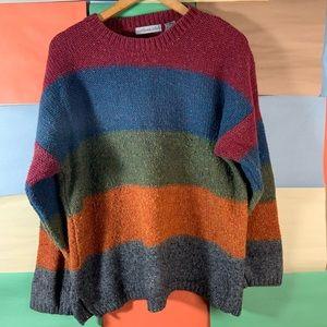 VINTAGE Northern Isle MultiColor Knit Sweater sZ L